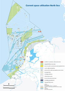 Current space utilisation North Sea
