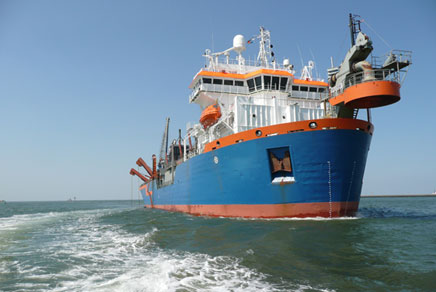 Dredging in the North Sea