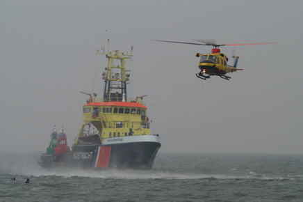Coastguard in cooperation with Rijkswaterstaat Sea and Delta